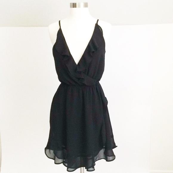 Hm Dresses Hm Black Side Ruffle Dress Poshmark